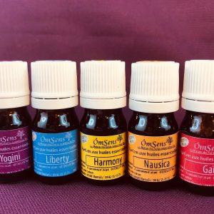 lot de 5 parfums aux huiles essentielles bio