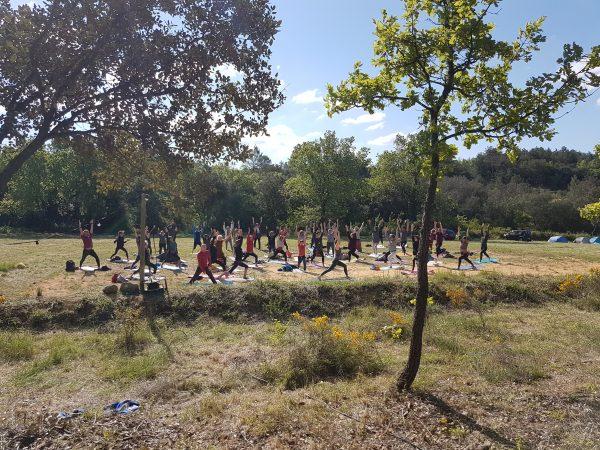 Entrée pour le festival yoga du sud